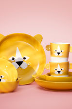 Animal-motif deep plate - Yellow/Lion - Home All | H&M CN 1