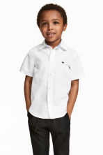Cotton shirt - White -  | H&M CN 1