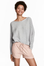 Linen-blend shorts - Light beige - Ladies | H&M 1