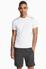 Short-sleeved sports top - White - Men | H&M 1