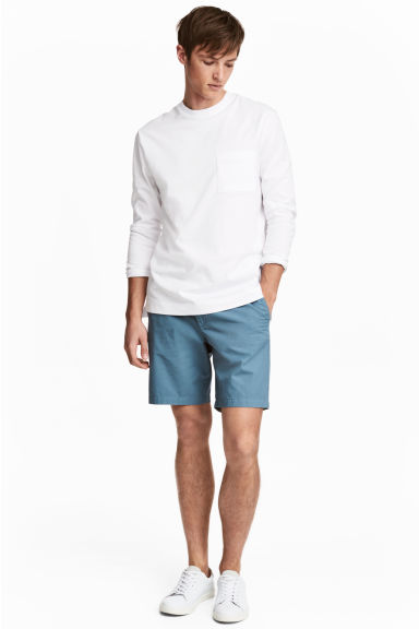 Chino shorts - Pigeon blue - Men | H&M CN 1