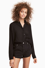 Crêpe shirt - Black - Ladies | H&M 1