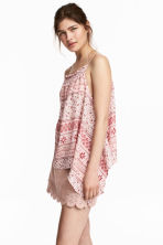 Top drappeggiato - Rosa/fantasia - DONNA | H&M IT 1