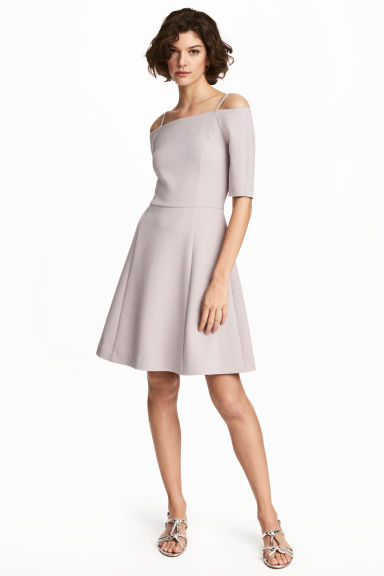 Crêpe dress - Light mole - Ladies | H&M