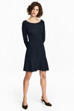 Ribbed skirt - Dark blue -  | H&M 1