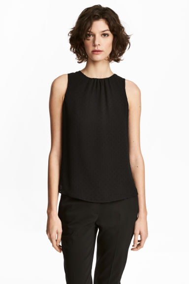 Sleeveless blouse - Black - Ladies | H&M CN 1