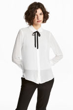 Chiffon blouse - White - Ladies | H&M CN 1