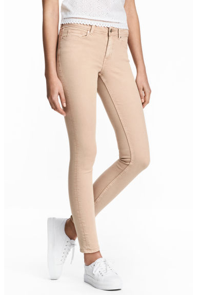 Super Skinny Regular Jeans - Light beige - Ladies | H&M 1