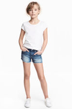 Denim shorts High waist - Denim blue -  | H&M 1