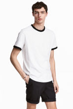 Cotton jersey T-shirt - White - Men | H&M CN 1