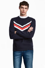Knitted jumper - Dark blue - Men | H&M 1