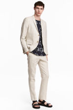 Linen suit trousers Slim fit - Natural white - Men | H&M 1