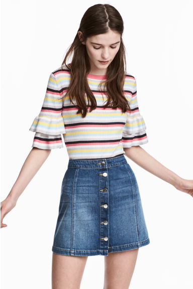 Knitted top - Multicoloured/Striped - Ladies | H&M 1