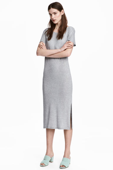 Jersey dress - Grey marl - Ladies | H&M CN