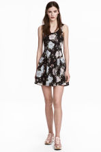 Jersey dress - Black/Floral - Ladies | H&M 1