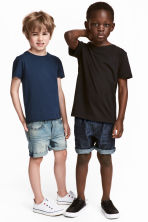 2件入丹寧短褲 - Denim blue/Dark denim blue - Kids | H&M 1