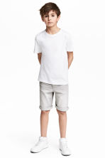 Denim shorts - Grey washed out - Kids | H&M 1