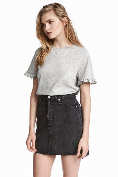 Denim skirt - Black denim -  | H&M 1