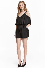 Cold shoulder playsuit - Black -  | H&M CA 1