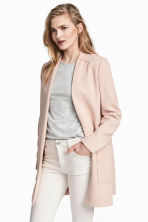 Long jacket - Powder pink -  | H&M 1