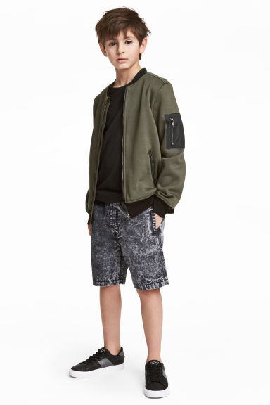 Short en denim - Noir washed out - ENFANT | H&M FR 1