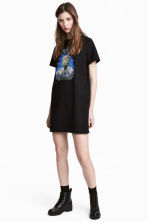 T-shirt dress with a motif - Black/Iron Maiden - Ladies | H&M CN 1