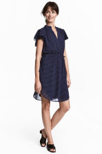 Short dress - Dark blue/Spotted - Ladies | H&M 1
