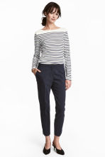 Suit trousers - Dark blue - Ladies | H&M CN 2