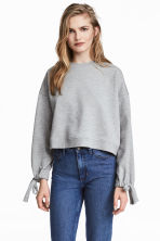 Sweatshirt with drawstrings - Grey marl - Ladies | H&M 1