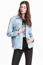Trashed denim jacket - Light denim blue - Ladies | H&M CN 1