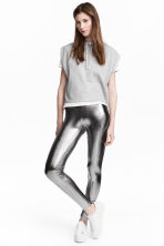 Leggings coated - Argentato - DONNA | H&M IT 1
