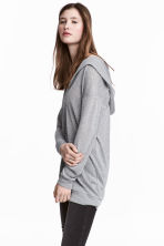 Knitted hooded jumper - Grey - Ladies | H&M 1