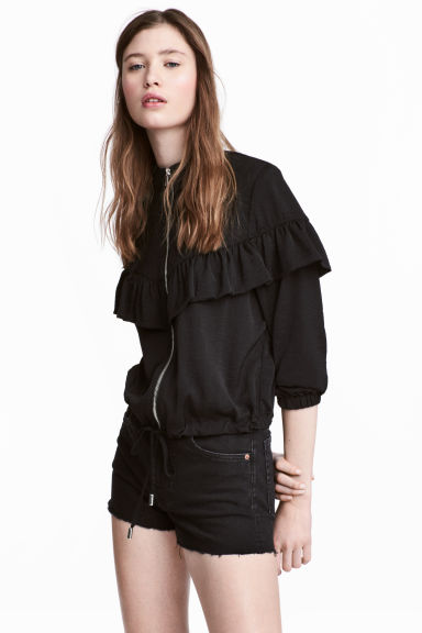 Flounced jacket - Black - Ladies | H&M 1