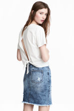 Denim skirt - Denim blue - Ladies | H&M 1