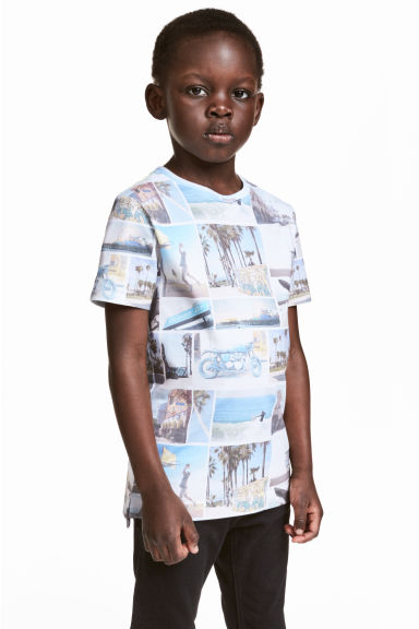 Printed T-shirt - White/Photo - Kids | H&M CN 1