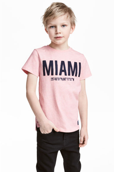 Printed T-shirt - Light pink/Miami - Kids | H&M 1