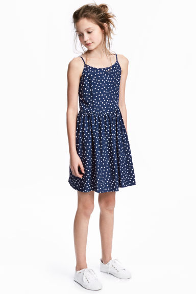 Patterned dress - Dark blue/Spotted -  | H&M CA 1