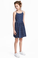 Abito fantasia - Blu scuro/pois -  | H&M IT 1
