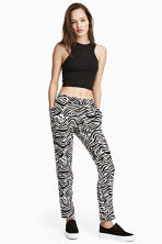 Pull-on trousers - Zebra print - Ladies | H&M 1