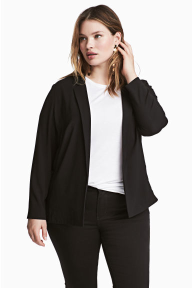 H&M+ Crêpe jacket - Black - Ladies | H&M 1