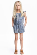 Playsuit - Dark blue/Patterned -  | H&M 1