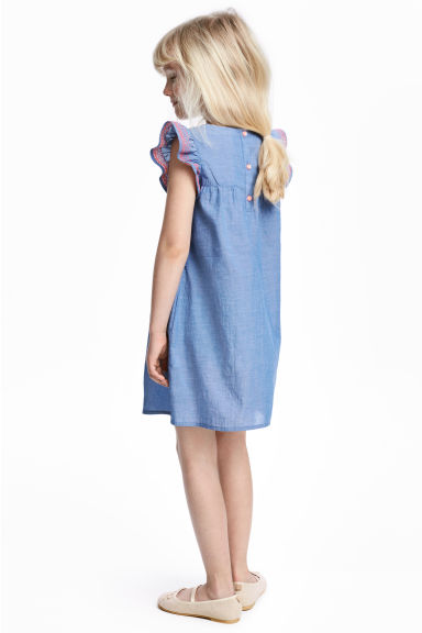 Abito in cotone - Blu/chambray -  | H&M IT 1