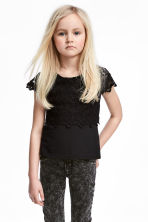 Lace top - Black -  | H&M CN 1