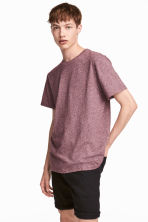 Jersey T-shirt - Burgundy marl - Men | H&M 1