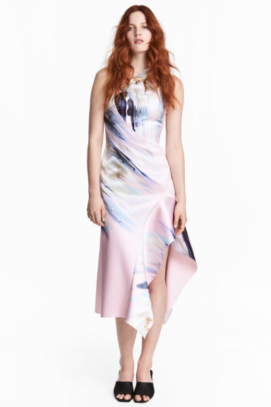 Bonded dress - Light pink/Floral -  | H&M CN