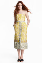 Jacquard-weave dress - Yellow/Patterned - Ladies | H&M 1