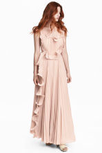 Pleated long dress - Powder beige - Ladies | H&M 1