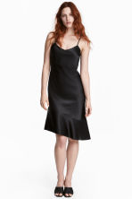 Silk dress - Black -  | H&M 1
