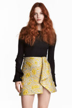 Jacquard-weave skirt - Yellow/Patterned - Ladies | H&M 1