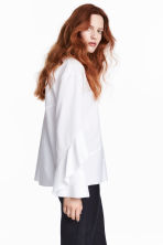 Silk-blend blouse - White - Ladies | H&M 1